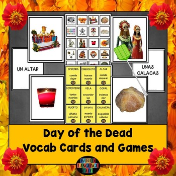 Spanish Day of the Dead, Día de los Muertos Games and Voca