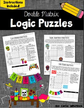 Day of the Dead (Dia de los Muertos) Logic Puzzles -  Doub
