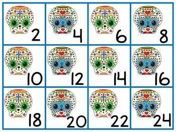 Day of the Dead / Dia de los Muertos Skip Counting 2's 5's & 10's