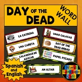 English Spanish Day of the Dead, Día de los Muertos Word W