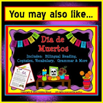 Day of the Dead FREEBIE Vocabulary Word Art Fun