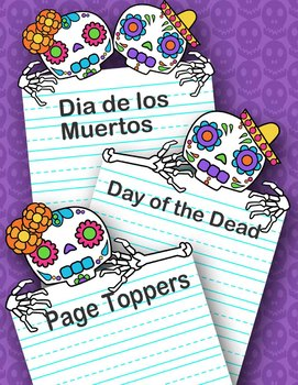 Day of the Dead Frames and Page Toppers