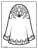 Day of the Dead Ghost Coloring Page