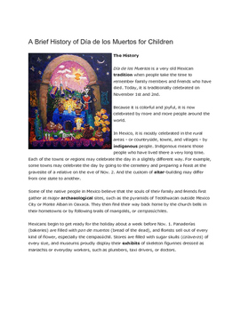 Day of the Dead & Halloween Cultural Study