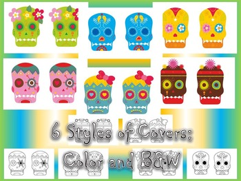 Day of the Dead & Halloween Sugar Skull Accordion Craftivity