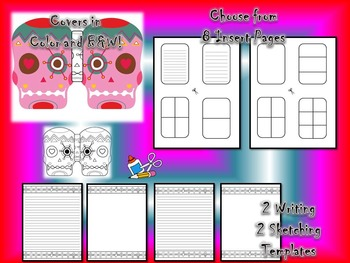 Day of the Dead & Halloween Sugar Skull Mini Fold-Em Writing Activity