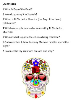 Day of the Dead Handout