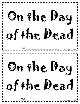 Day of the Dead Interactive Book--in English and Spanish!