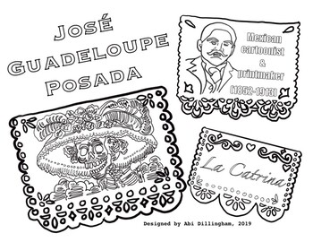 Day of the Dead: Jose Posada (Mexican Cartoonist) La Catrina Coloring Page