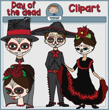 Day of the Dead Kids Clipart {Dia de los Muertos}