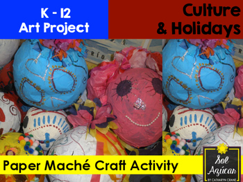 Paper Maché Craft Activity - Day of the Dead Skull Art Project
