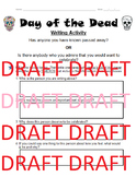 Day of the Dead Mexico Writing Activity