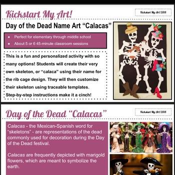 Day of the Dead Name Art Skeletons