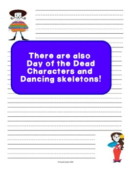 Day of the Dead Notebook Paper to Make Writing Fun! Primary Guide Lines Pack