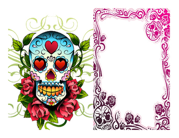 """Day of the Dead """"Ofrenda"""" cards"""