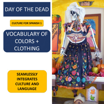 Day of the Dead pictures to practice the vocabulary of clo