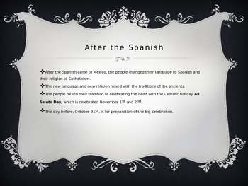 Day of the Dead PowerPoint:  A simple history and overview of the celebration