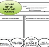Day of the Dead:  Powerpoint and Student Notes Page
