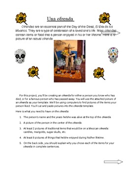 Day Of The Dead Project Ofrenda Dia De Los Muertos Proyecto By Lilafox Day Of The Dead Project Ofrenda Dia De Los Muertos Proyecto How To Write A Thesis For A Persuasive Essay also Custom Writing Lab Reports  Pmr English Essay
