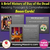 Day of the Dead Reading Comprehension Boom Cards