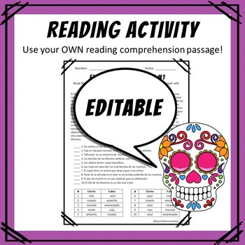 Spanish Day of the Dead Reading Comprehension_Calavera Masks