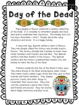 Day of the Dead Scaffolded Lesson Unit (Main Idea & Details, Multicultural)