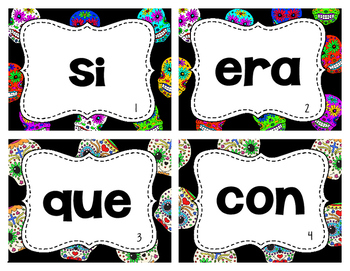Day of the Dead - Spanish Sight Words Write the Room