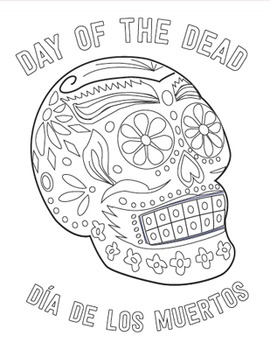 Holidays Around the World: Day of the Dead Skull Coloring Sheet