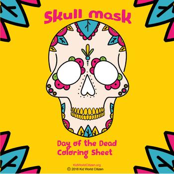 Day of the Dead Skull Mask ~ Calaverita on a Popsicle Stick for Día de Muertos