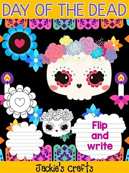 Day of the Dead Skull and Flowers - Jackie's Crafts Activity, dia de los muertos