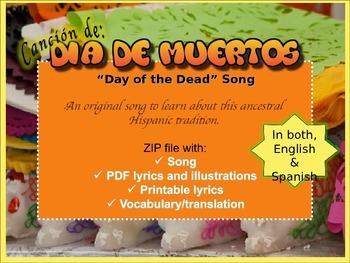 Day of the Dead Song MP3 and lyrics. Cancion de Dia de Muertos.