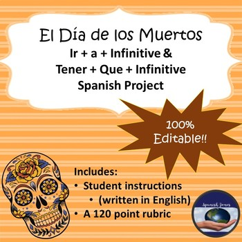Day of the Dead Spanish Ir + a + Infinitive and Tener + que + Infinitive Project