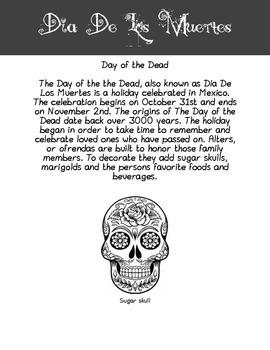 Day of the Dead Sugar Skull Activity