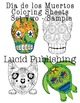 Day of the Dead Sugar Skull Coloring Sheets Version 2 Set 2