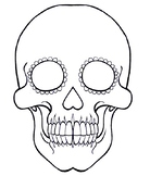 Day of the Dead Sugar Skull Coloring Template