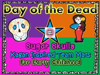 Day of the Dead Sugar Skull Kagan Inspired Team Mats