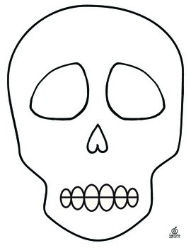 Day of the Dead Sugar Skull Template