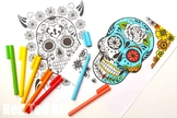 Day of the Dead - Sugar Skulls - Coloring Pages x 7 or Masks