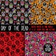 Day of the Dead Sugar Skulls Digital Papers - Commercial a
