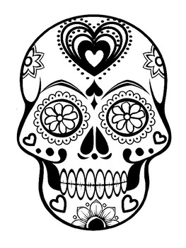 Mesmerizing image pertaining to day of the dead skull template printable