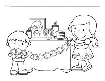 Day of the Dead - Traditions: 20 Coloring Pages
