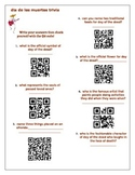 Day of the Dead Trivia with self-check QR codes