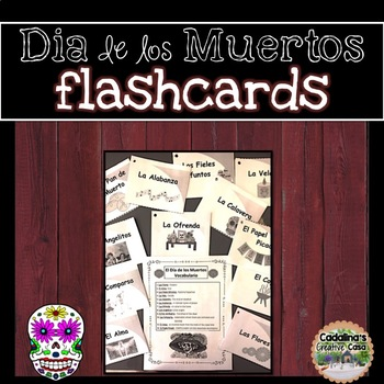 El Día de los Muertos Vocabulary Flashcards Set of 12