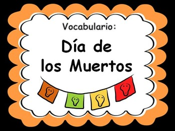 Day of the Dead Vocabulary PowerPoint (Spanish)