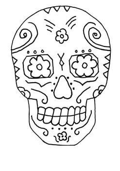 Day of the Dead Word Search and Color (Dia de los Muertos)