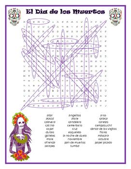 Day of the Dead Word Search (Dia de los Muertos Buscapalabras)