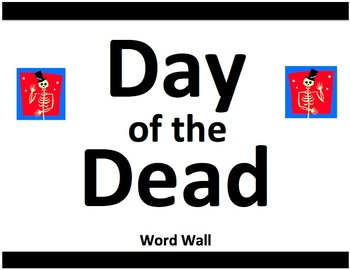 Day of the Dead Word Wall