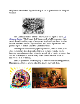 Day of the Dead Worksheet