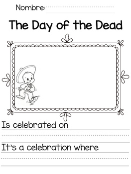 Day of the Dead Writing Pages/ Dia de los Muertos Paginas de Escritura