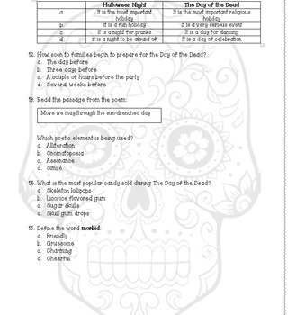 Day of the Dead and Halloween Paired Passage